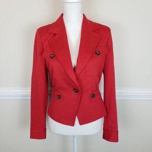 CABI Little Red Jacket Crimson Red Blazer #3374